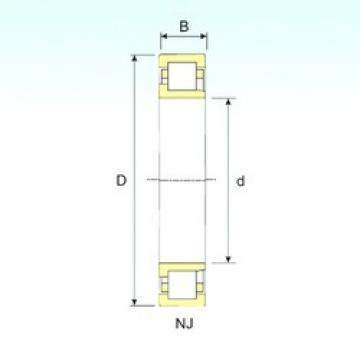 160 mm x 340 mm x 114 mm  ISB NJ 2332 cylindrical roller bearings