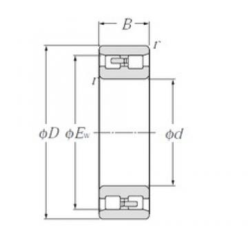 40 mm x 68 mm x 21 mm  CYSD NN3008 cylindrical roller bearings