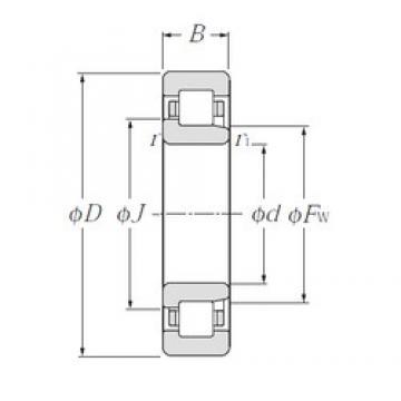 130 mm x 230 mm x 64 mm  NTN NJ2226E cylindrical roller bearings