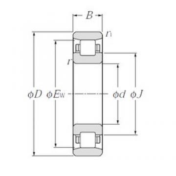150 mm x 320 mm x 65 mm  NTN N330 cylindrical roller bearings