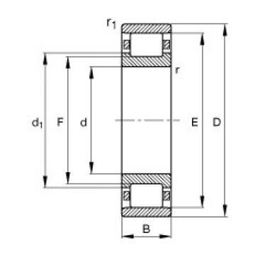 70 mm x 150 mm x 35 mm  FAG N314-E-TVP2 cylindrical roller bearings