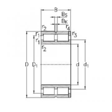 220 mm x 300 mm x 80 mm  NKE NNC4944-V cylindrical roller bearings
