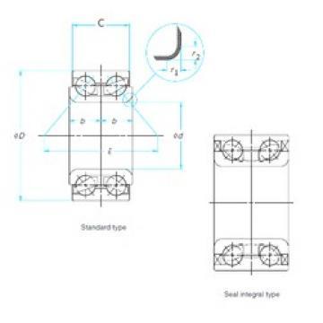38 mm x 73 mm x 40 mm  FAG SA0015 angular contact ball bearings