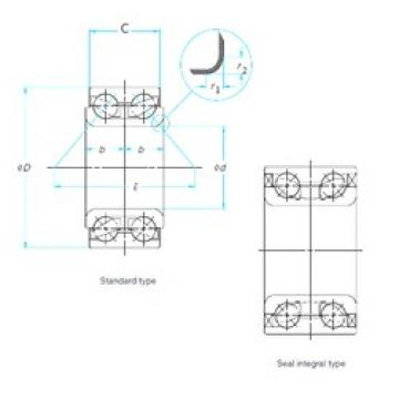 40 mm x 80 mm x 36 mm  FAG FW936 angular contact ball bearings
