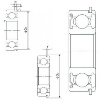 75 mm x 130 mm x 25 mm  NACHI 6215ZENR deep groove ball bearings