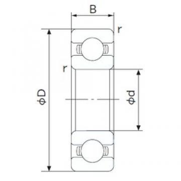 80 mm x 125 mm x 22 mm  NACHI 6016 deep groove ball bearings