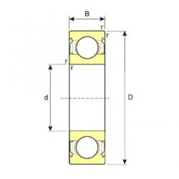 17 mm x 47 mm x 14 mm  ISB 6303-ZZ deep groove ball bearings