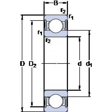 25 mm x 37 mm x 10 mm  SKF W 63805-2RS1 deep groove ball bearings