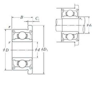 8 mm x 14 mm x 4 mm  NSK MF148ZZ deep groove ball bearings
