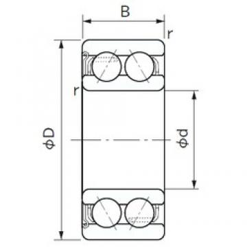 60 mm x 110 mm x 36.5 mm  NACHI 5212Z angular contact ball bearings