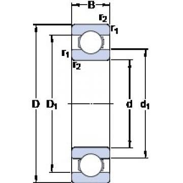 340 mm x 420 mm x 38 mm  SKF 61868 MA deep groove ball bearings