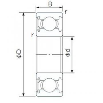 105 mm x 190 mm x 36 mm  CYSD 6221-RS deep groove ball bearings