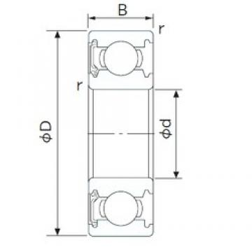 110 mm x 200 mm x 38 mm  CYSD 6222-RS deep groove ball bearings