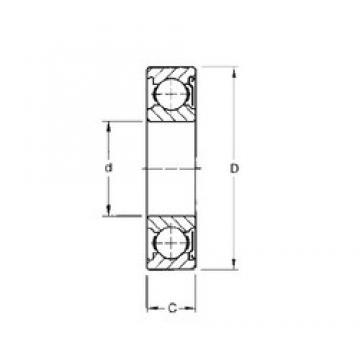 55 mm x 100 mm x 21 mm  Timken 211KD deep groove ball bearings