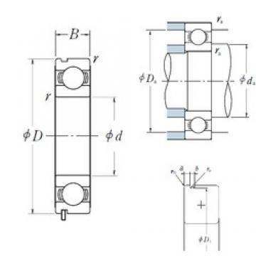 80 mm x 170 mm x 39 mm  NSK 6316N deep groove ball bearings