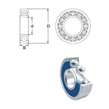 75 mm x 160 mm x 37 mm  ZEN 6315-2RS deep groove ball bearings