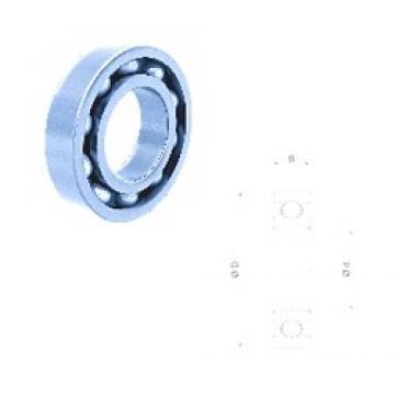 75 mm x 160 mm x 37 mm  Fersa 6315 deep groove ball bearings