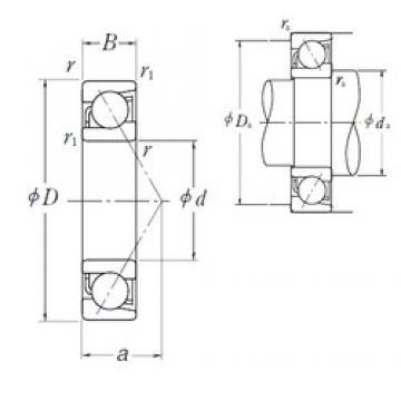 12 mm x 32 mm x 10 mm  NSK 7201 B angular contact ball bearings