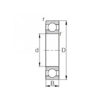 22 mm x 56 mm x 15 mm  KBC 63/22h deep groove ball bearings