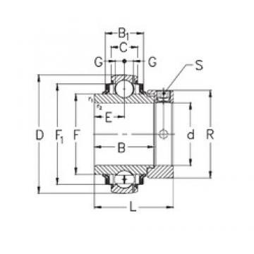 100 mm x 215 mm x 86 mm  NKE GNE100-KRRB deep groove ball bearings
