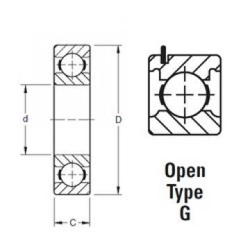 45 mm x 100 mm x 25 mm  Timken 309KG deep groove ball bearings