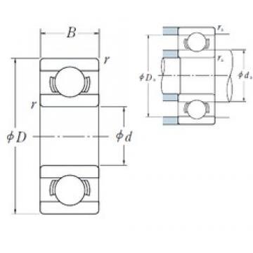 4 mm x 9 mm x 2,5 mm  ISO 684A deep groove ball bearings