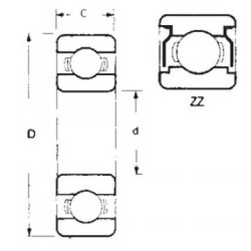 9,525 mm x 22,225 mm x 7,14248 mm  FBJ 1604ZZ deep groove ball bearings