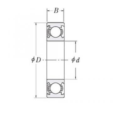 15,875 mm x 46,0375 mm x 15,875 mm  RHP MJ5/8-Z deep groove ball bearings