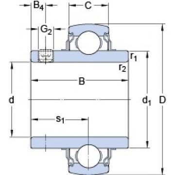 30.163 mm x 62 mm x 38.1 mm  SKF YAR 206-103-2FW/VA201 deep groove ball bearings