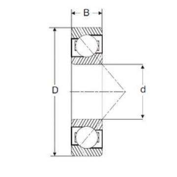 165,1 mm x 279,4 mm x 39,69 mm  SIGMA LJT 6.1/2 angular contact ball bearings