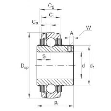 INA GYE45-KRR-B-VA deep groove ball bearings