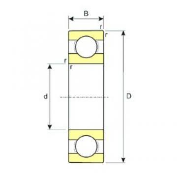7 mm x 11 mm x 2,5 mm  ISB MR117 deep groove ball bearings