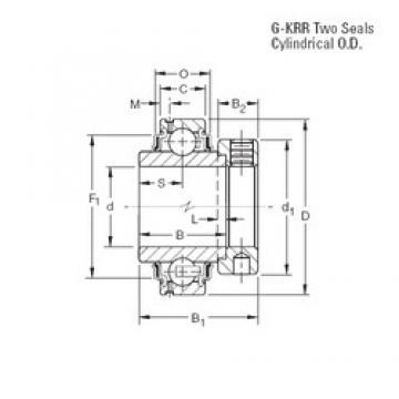 44,45 mm x 85 mm x 42,86 mm  Timken G1112KRR deep groove ball bearings