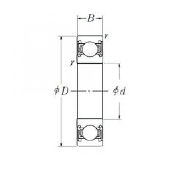 120 mm x 215 mm x 40 mm  NSK 6224DDU deep groove ball bearings