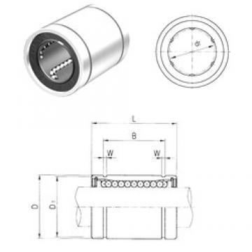 50 mm x 75 mm x 77,6 mm  Samick LME50 linear bearings