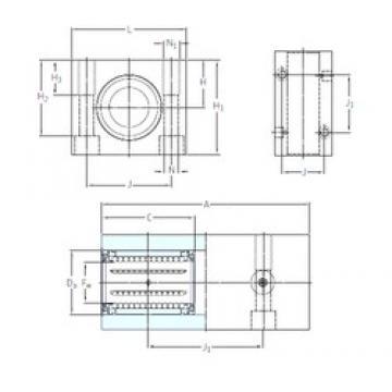 SKF LTCD 20-2LS linear bearings