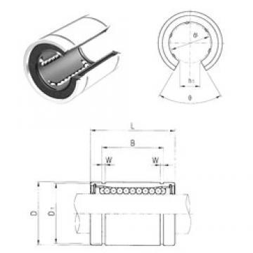 50 mm x 75 mm x 77,6 mm  Samick LME50OP linear bearings