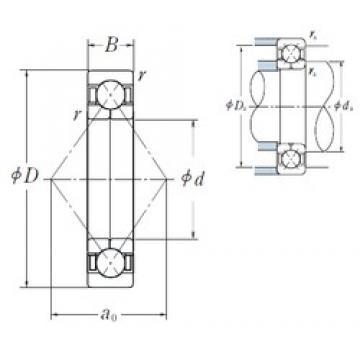 200 mm x 310 mm x 51 mm  NSK QJ 1040 angular contact ball bearings