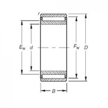 12 mm x 24 mm x 20 mm  Timken NAO12X24X20 needle roller bearings