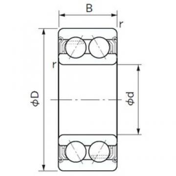 75 mm x 130 mm x 41.3 mm  NACHI 5215AZZ angular contact ball bearings