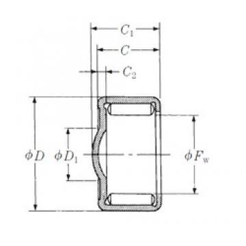 NSK ZY-1210 needle roller bearings