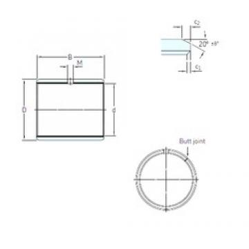 160 mm x 165 mm x 100 mm  SKF PCM 160165100 M plain bearings