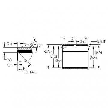 AST AST40 6560 plain bearings
