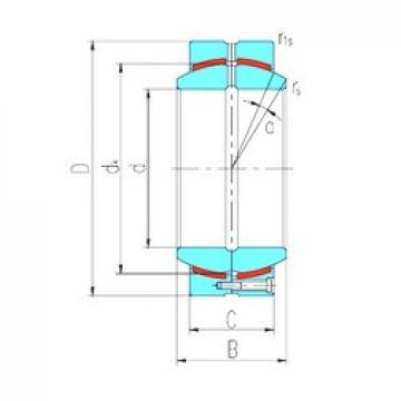 320 mm x 460 mm x 230 mm  LS GEH320HCS plain bearings
