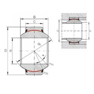 60 mm x 105 mm x 63 mm  INA GE 60 FW-2RS plain bearings