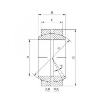 32 mm x 62 mm x 30 mm  ISO GE 032/62 XES plain bearings