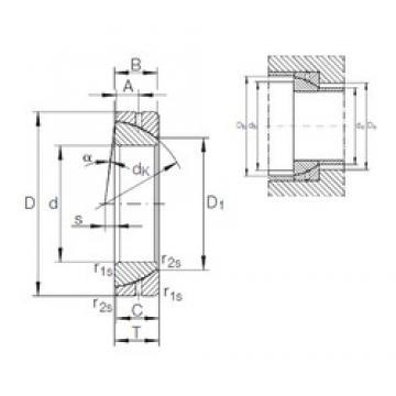 55 mm x 90 mm x 22 mm  INA GE 55 SX plain bearings
