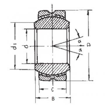 30 mm x 66 mm x 37 mm  FBJ GEBK30S plain bearings