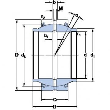 50.8 mm x 80.963 mm x 76.2 mm  SKF GEZM 200 ES-2LS plain bearings