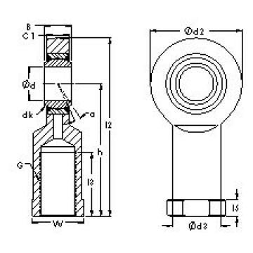 AST SIJK22C plain bearings